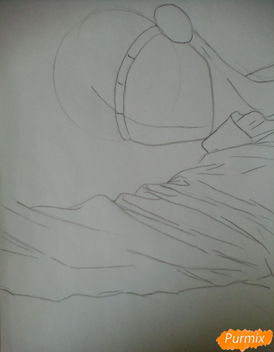 Рисуем Тадаоми Сиротани из манги До десяти - шаг 2