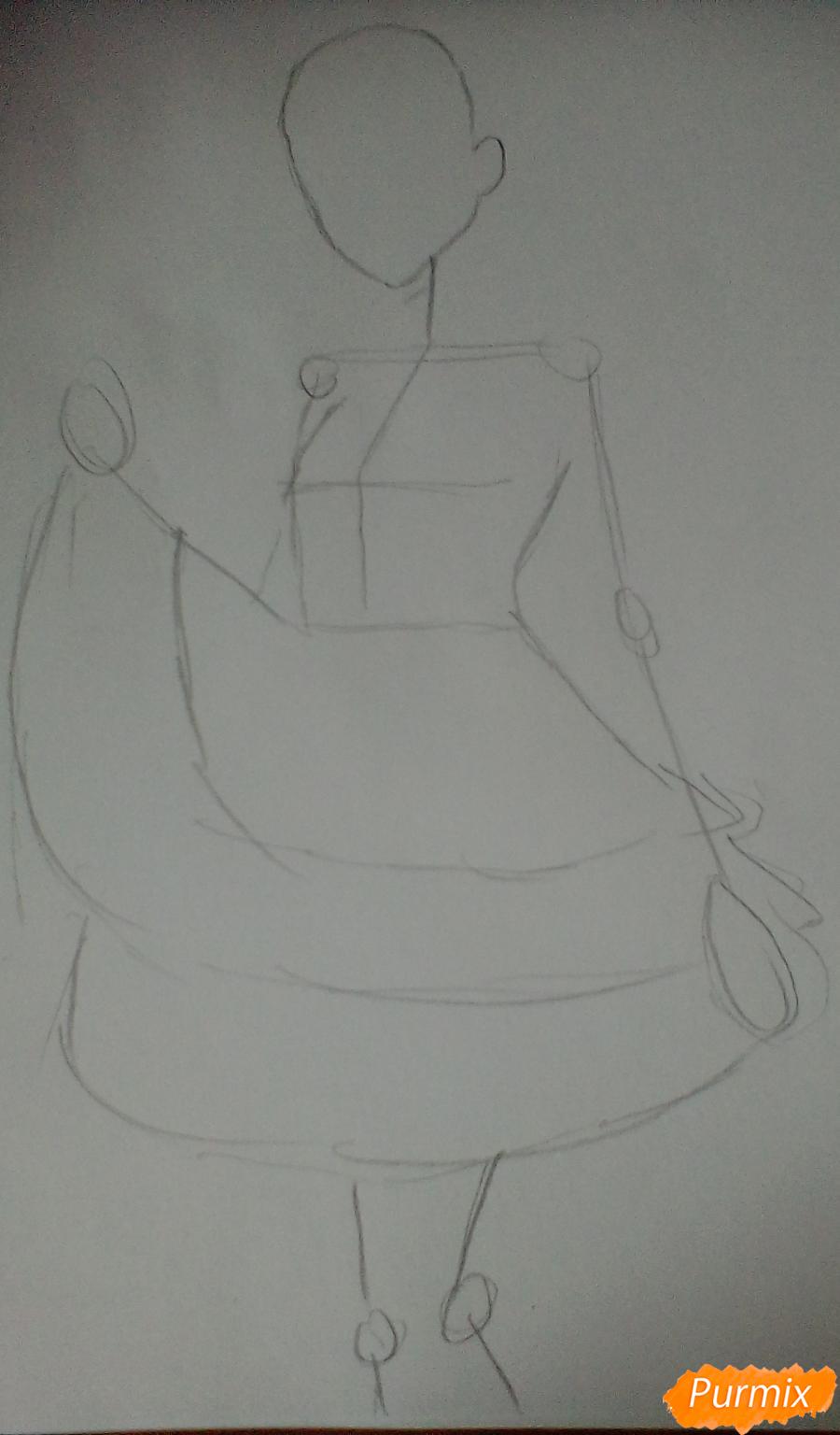 Рисуем Токо Фукаву из аниме Школа Отчаяния карандашами - шаг 1