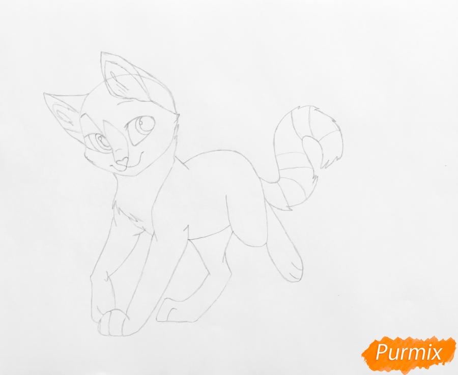 Рисуем трёхцветную аниме кошечку - шаг 4