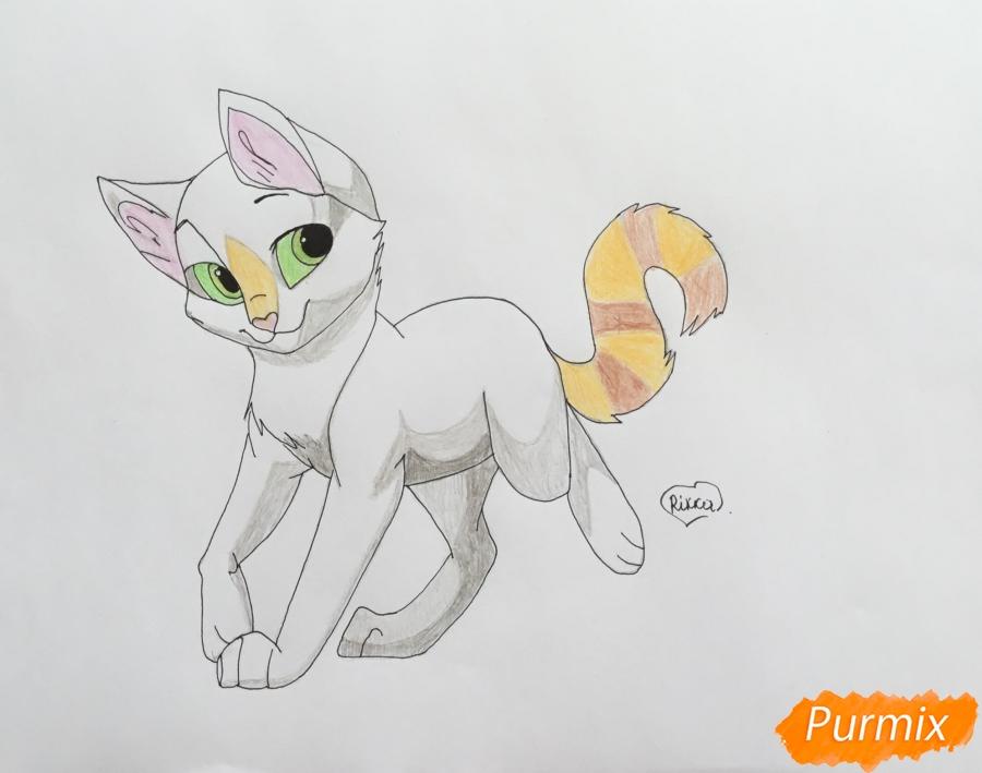 Рисуем трёхцветную аниме кошечку - шаг 7