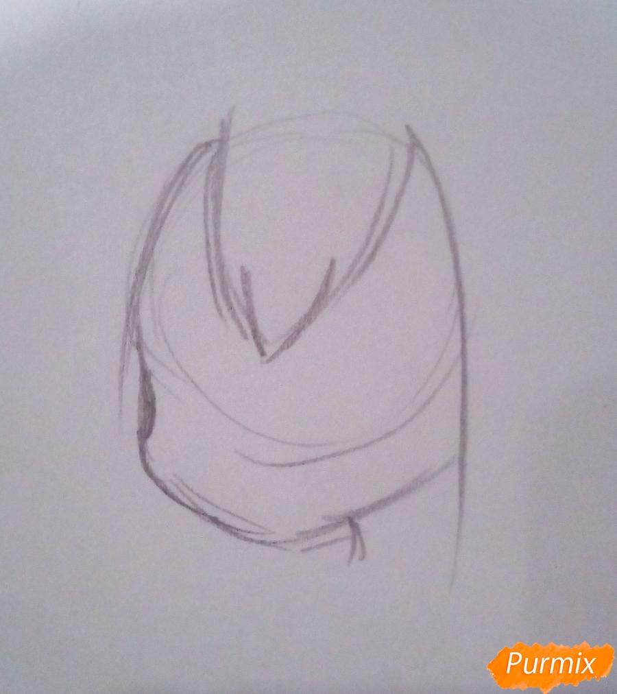 Рисуем Тсую Асуи из аниме Моя Геройская Академия - шаг 2