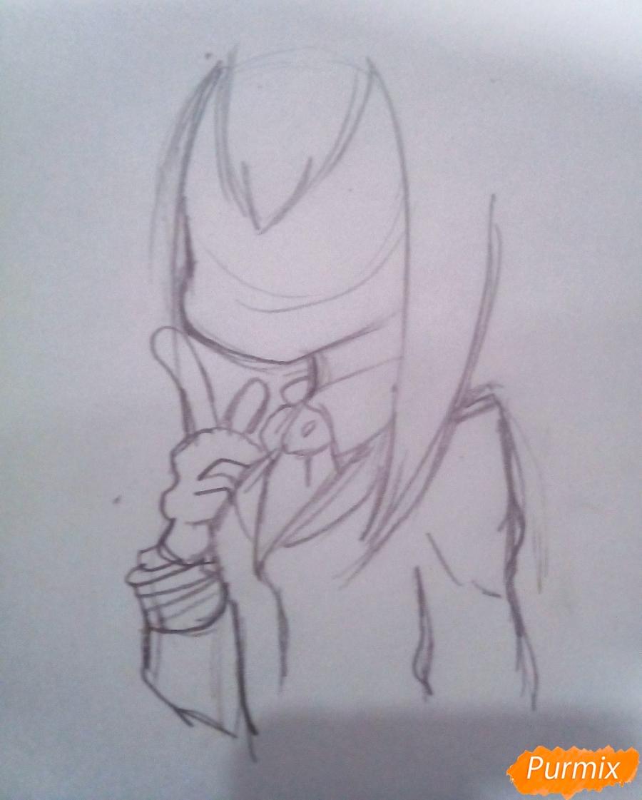 Рисуем Тсую Асуи из аниме Моя Геройская Академия - шаг 4