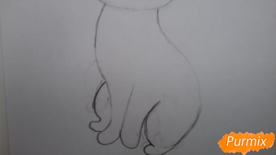 Рисуем удивлённую кошку Луну для начинающих - шаг 4