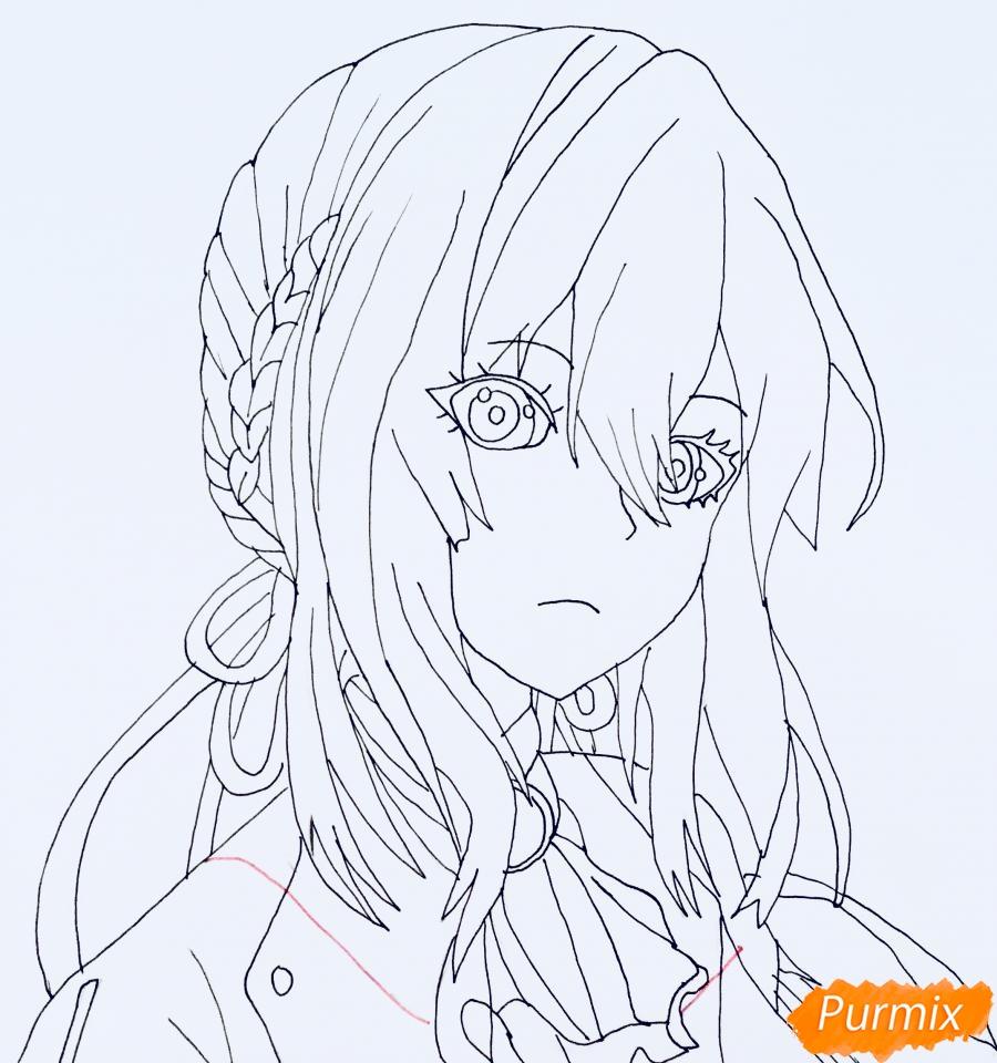 Рисуем портрет Вайолет Эвергарден из аниме Вайолет Эвергарден - шаг 10