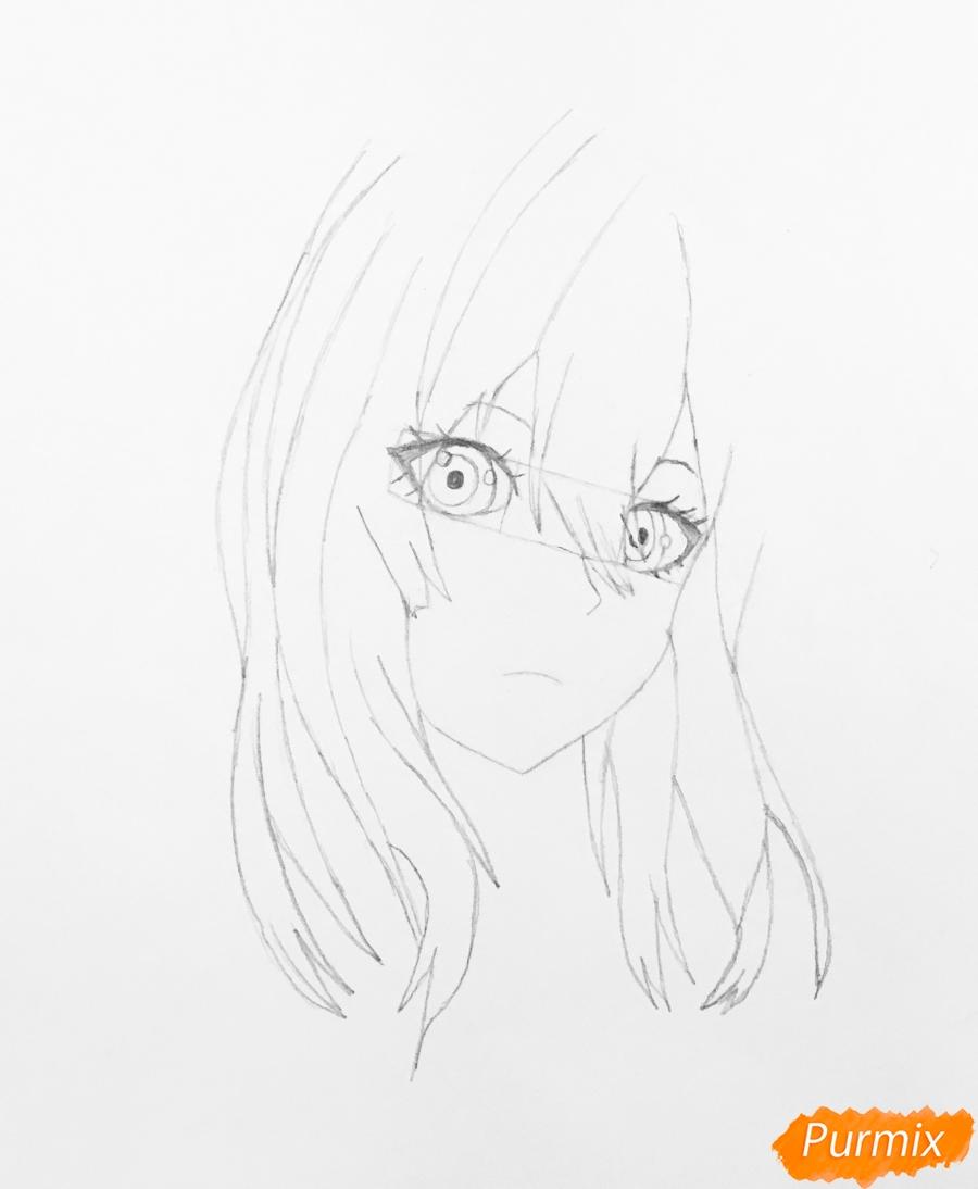 Рисуем портрет Вайолет Эвергарден из аниме Вайолет Эвергарден - шаг 4