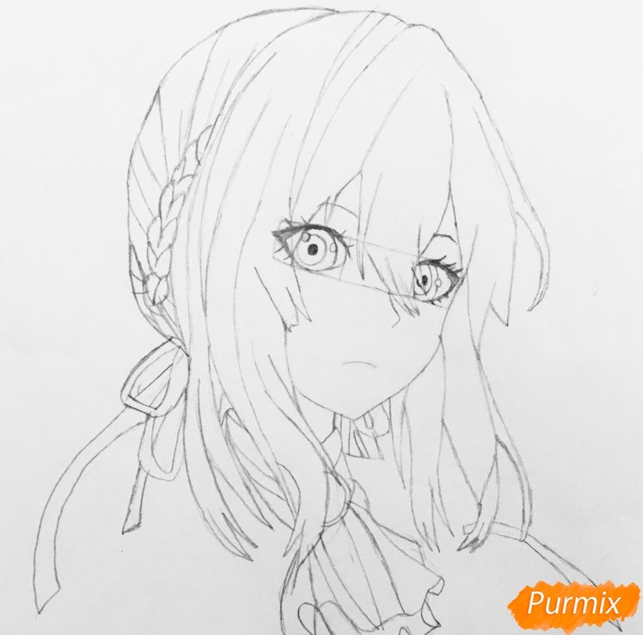 Рисуем портрет Вайолет Эвергарден из аниме Вайолет Эвергарден - шаг 8