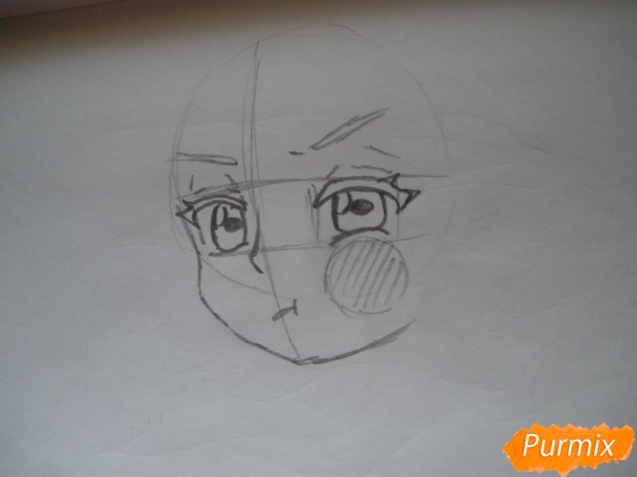 Рисуем фломастерами Хатсуне Мику за стеклом - шаг 2