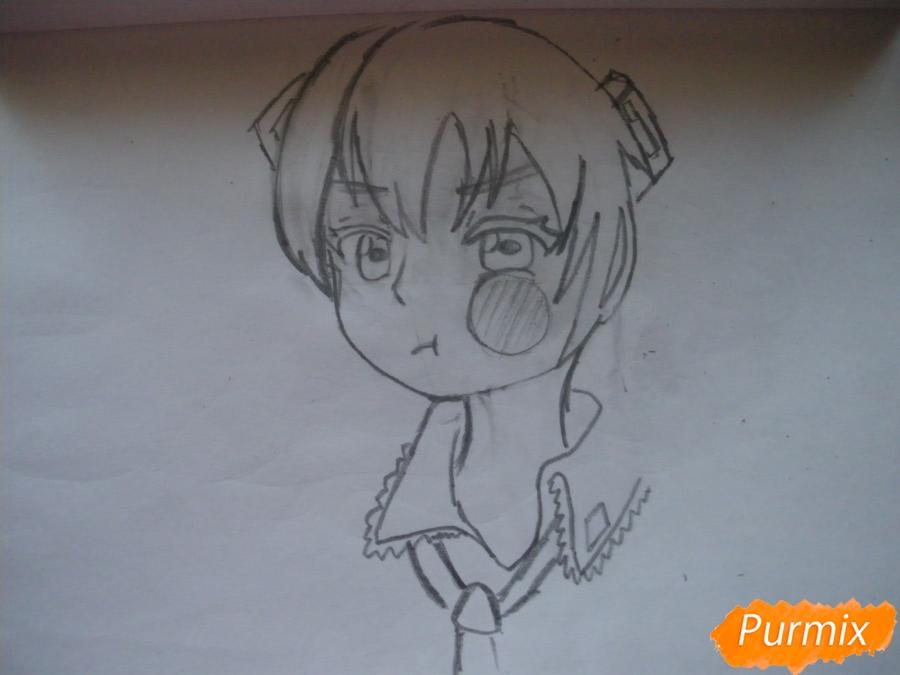 Рисуем фломастерами Хатсуне Мику за стеклом - шаг 4