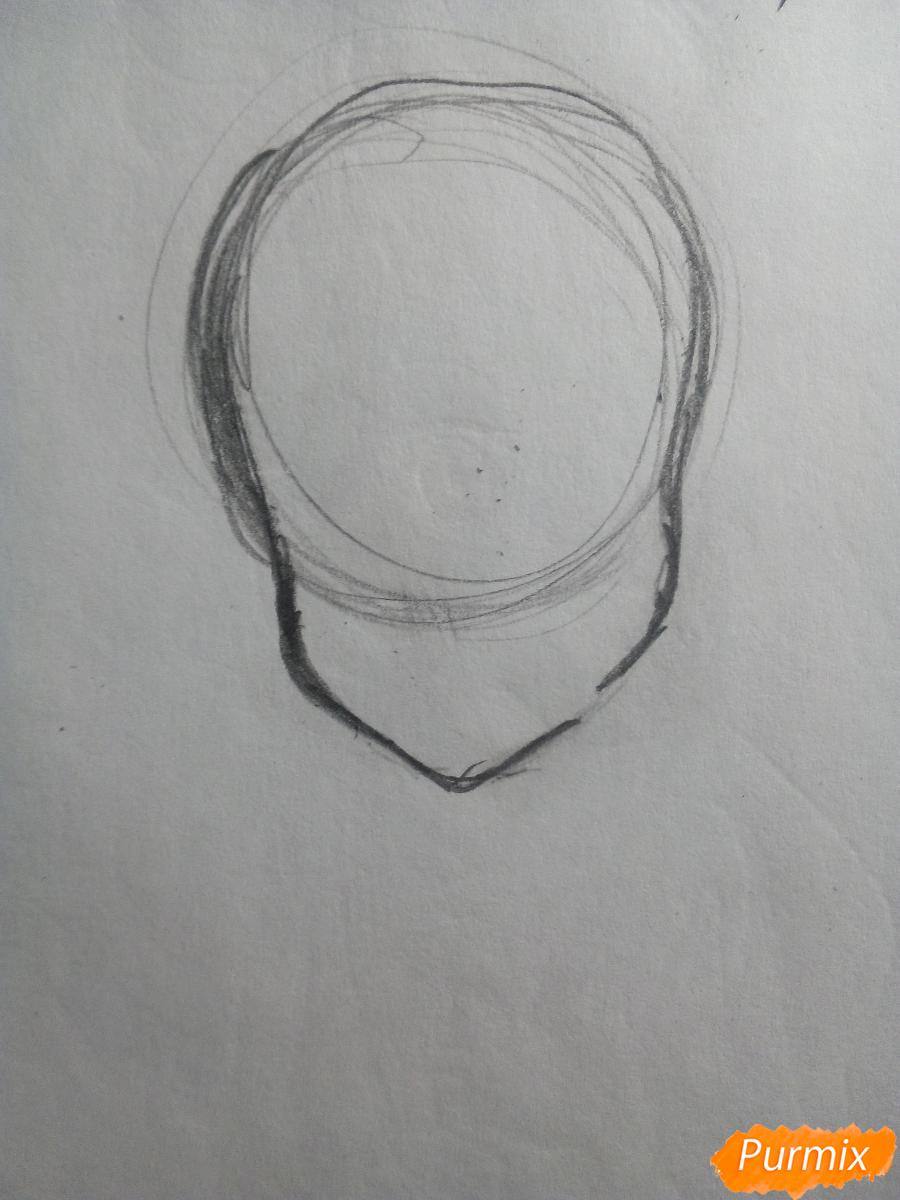 Рисуем и раскрасить вокалоида Рин Кагамине - шаг 2