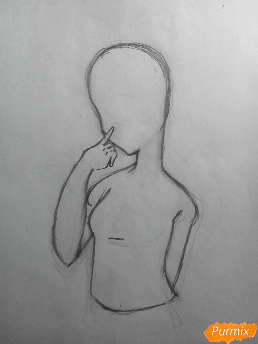 Рисуем и раскрасить вокалоида Рин Кагамине - шаг 4