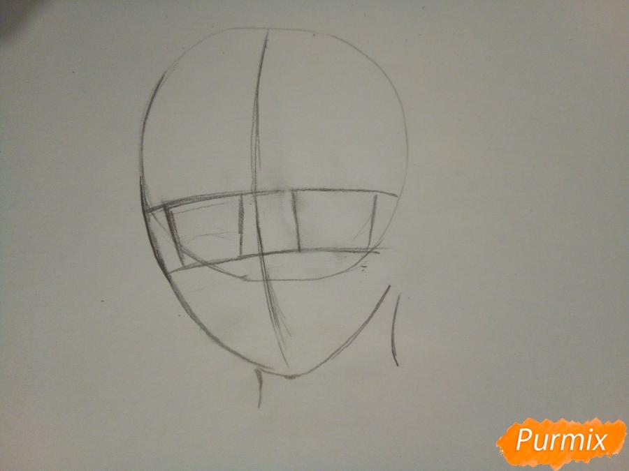 Рисуем Ято цветными карандашами - шаг 1
