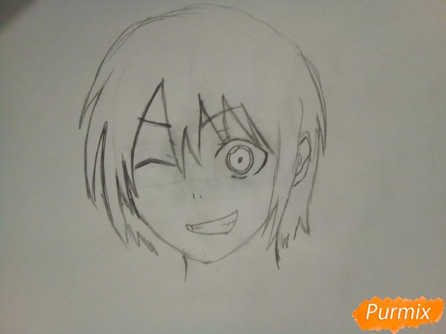 Рисуем Ято цветными карандашами - шаг 3
