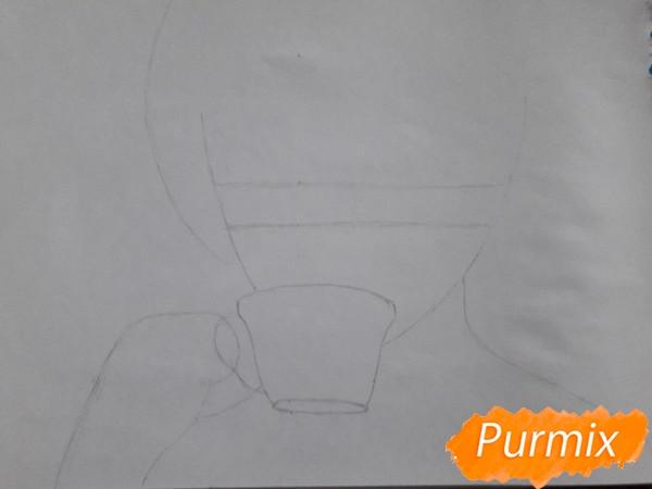 Рисуем Юки Асуну с чашкой - шаг 1