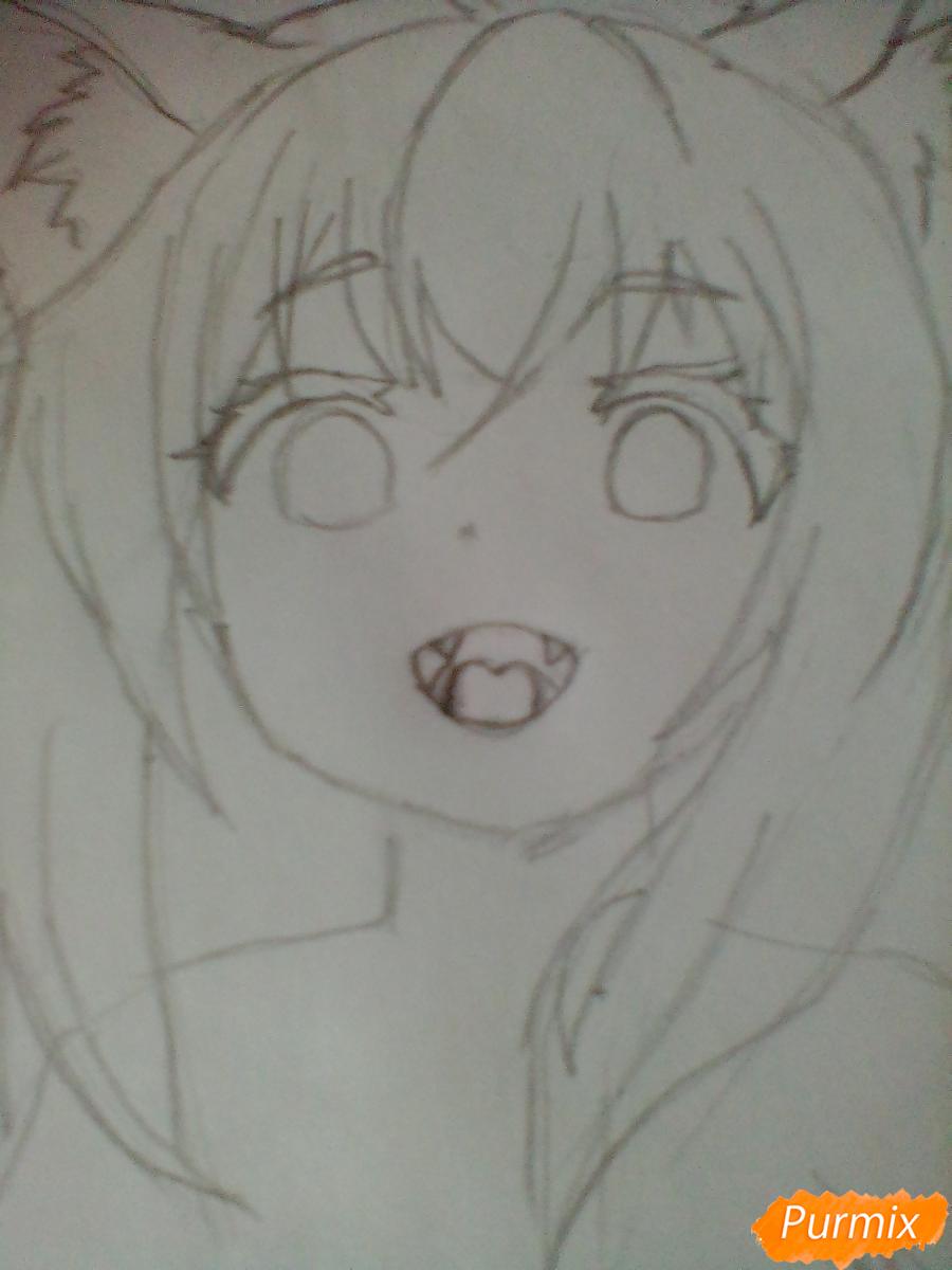 Рисуем Юзу из аниме Konohana Kitan - шаг 2