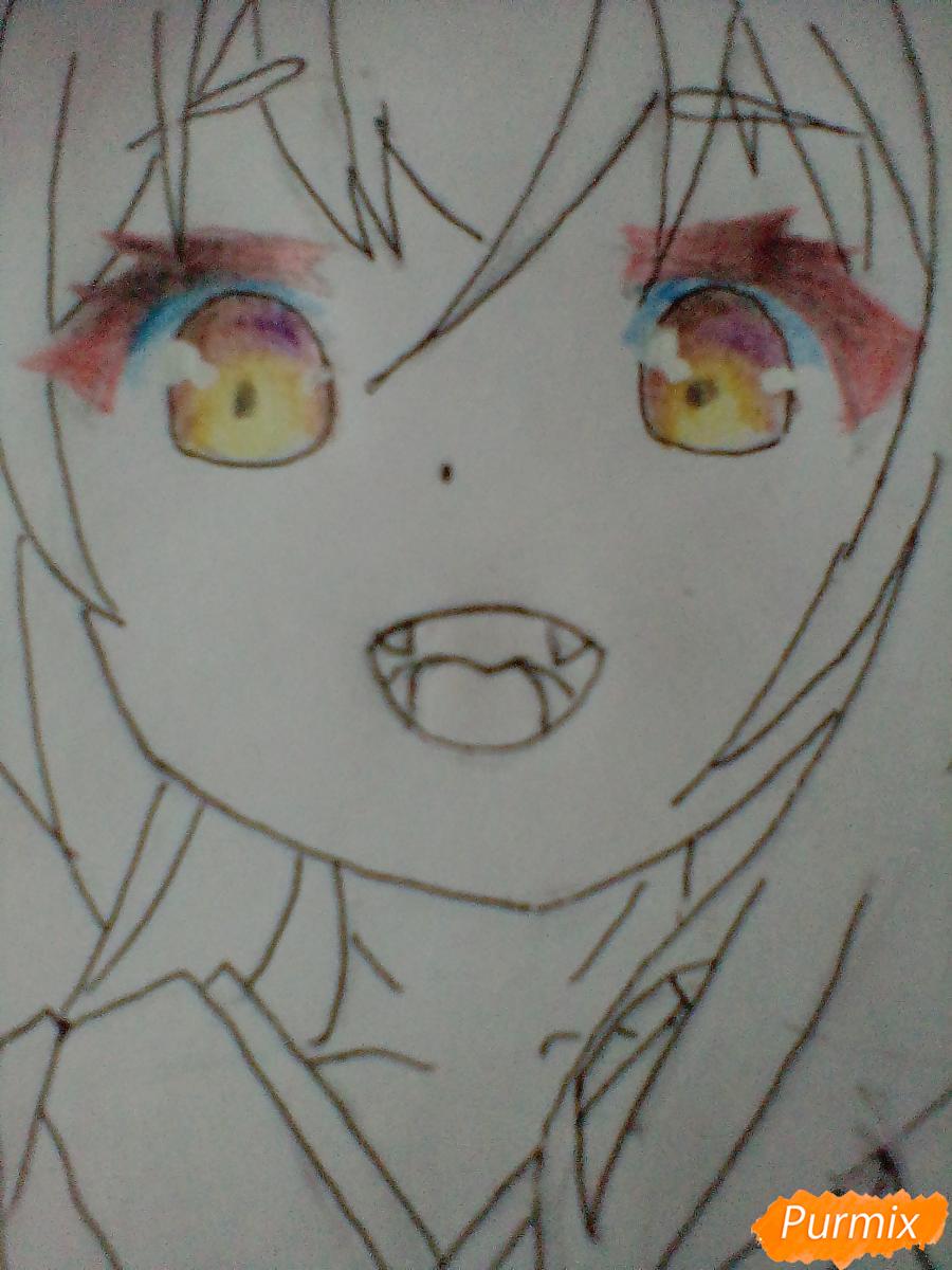 Рисуем Юзу из аниме Konohana Kitan - шаг 7