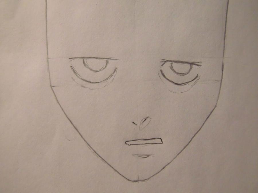 Рисуем L из Тетрадь смерти - шаг 2