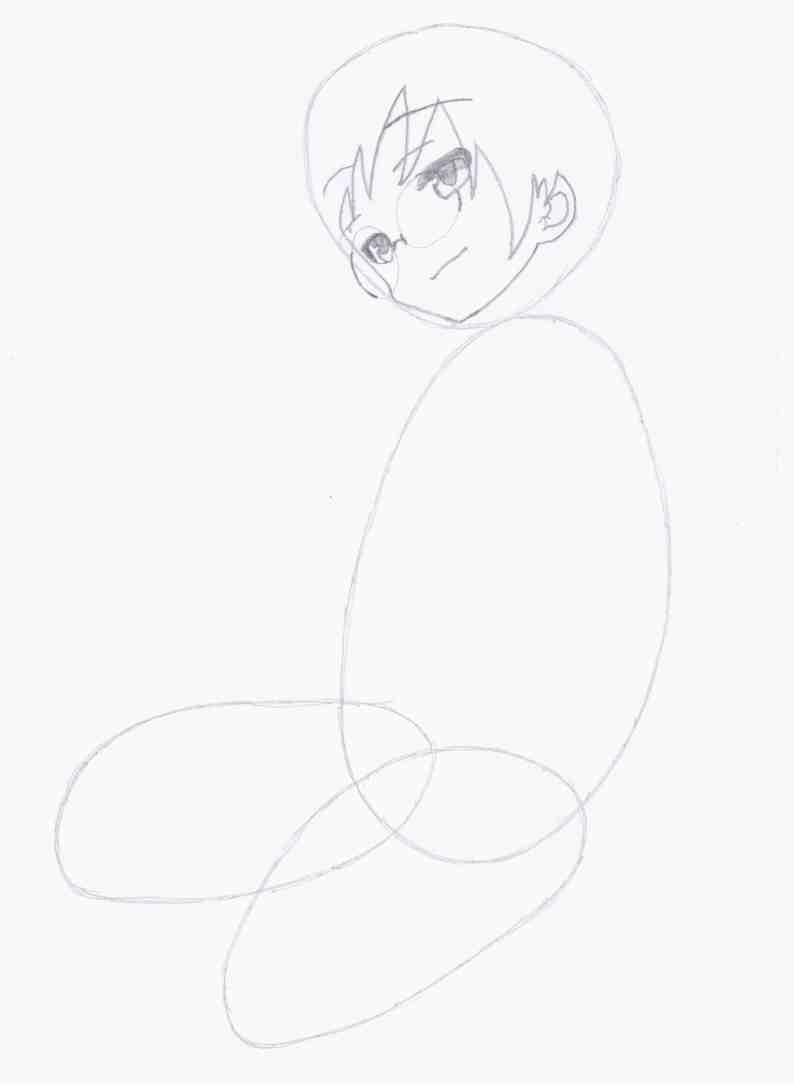 Как нарисовать Наги из аниме 'Channel A/Канал А' поэтапно