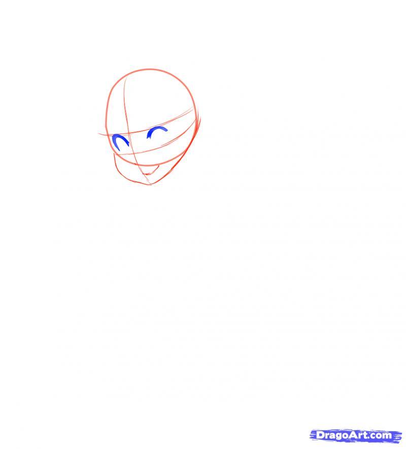 Рисуем Neko в снегу - шаг 5
