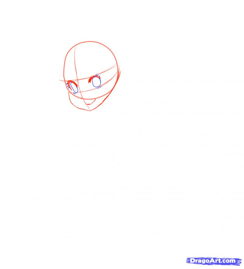 Рисуем Neko в снегу - шаг 6