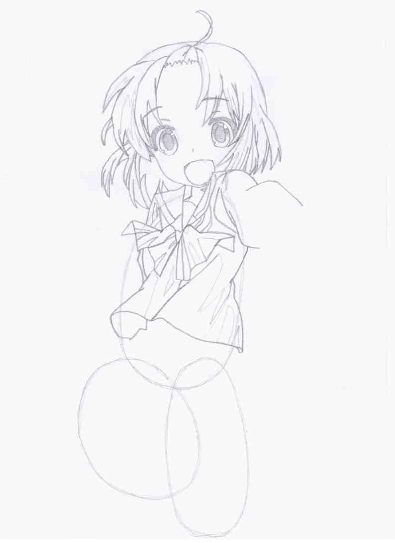 Как нарисовать Рун/Run из аниме 'Channel A/Канал А' поэтапно