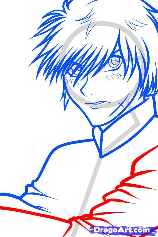 Рисуем Sousuke Sagara из Full Metal Panic