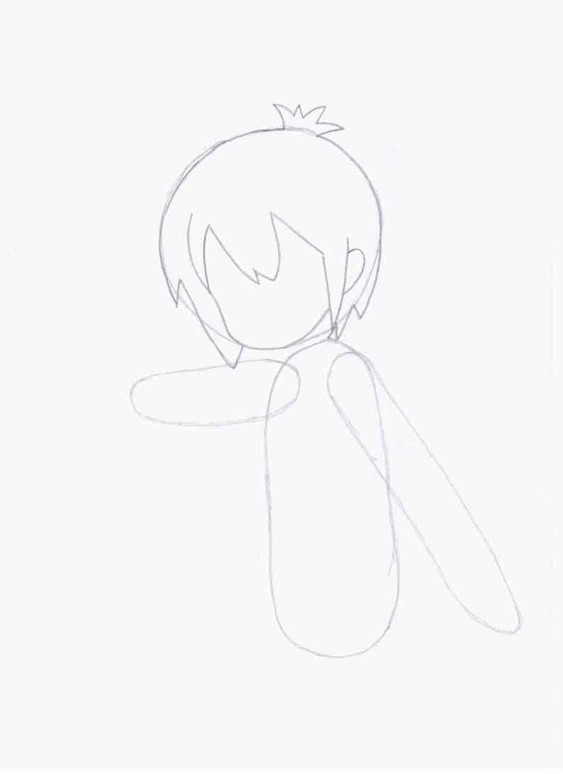 Рисуем Тору из аниме Channel A/Канал А - шаг 2