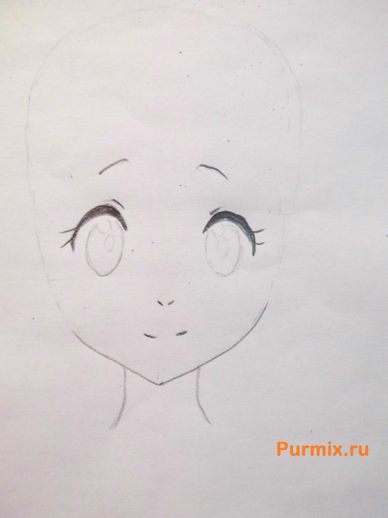 Рисуем Ай Синдо из аниме За гранью - шаг 2