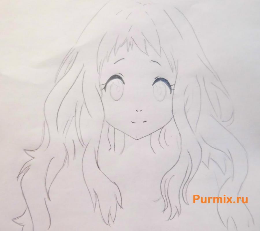Рисуем Ай Синдо из аниме За гранью - шаг 3
