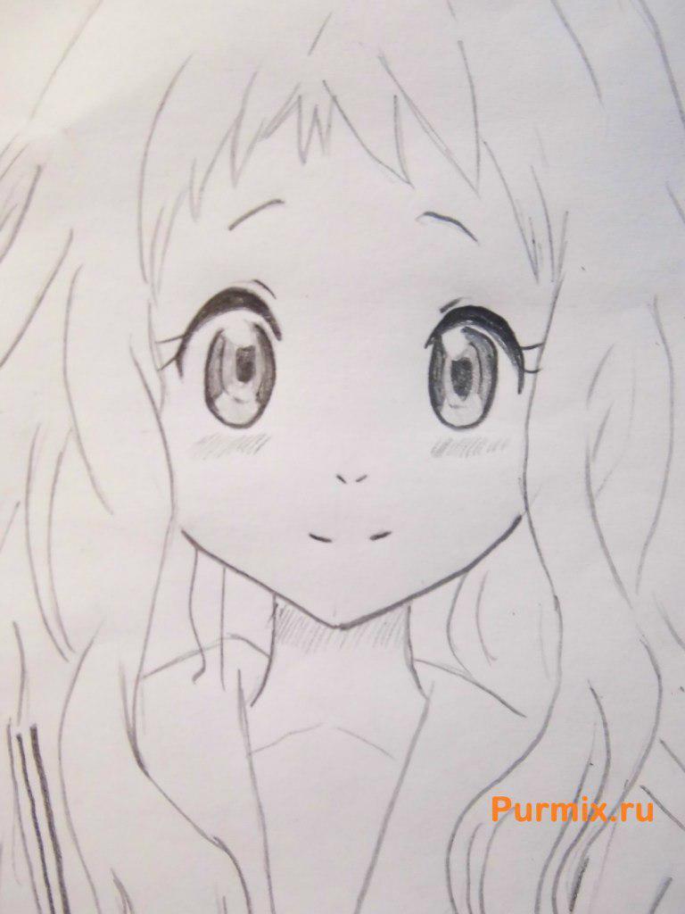 Рисуем Ай Синдо из аниме За гранью - шаг 5