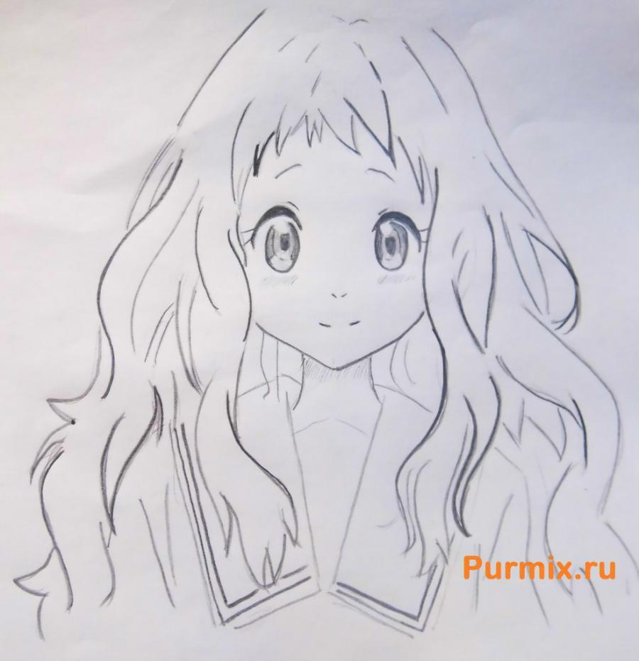 Рисуем Ай Синдо из аниме За гранью - шаг 6