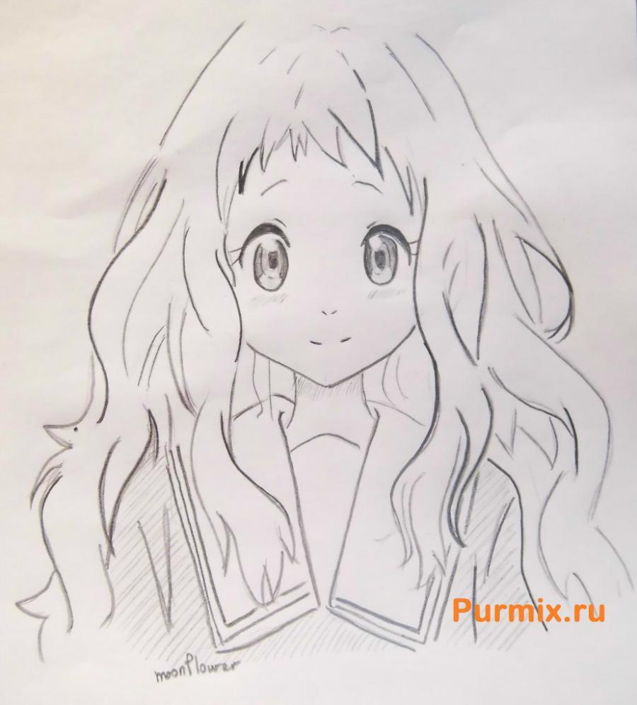 Рисуем Ай Синдо из аниме За гранью - шаг 7