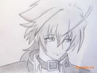 Акира Никайдо из аниме Монохромный фактор карандашом