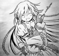 Фото Алису из аниме Сердце пандоры карандашом