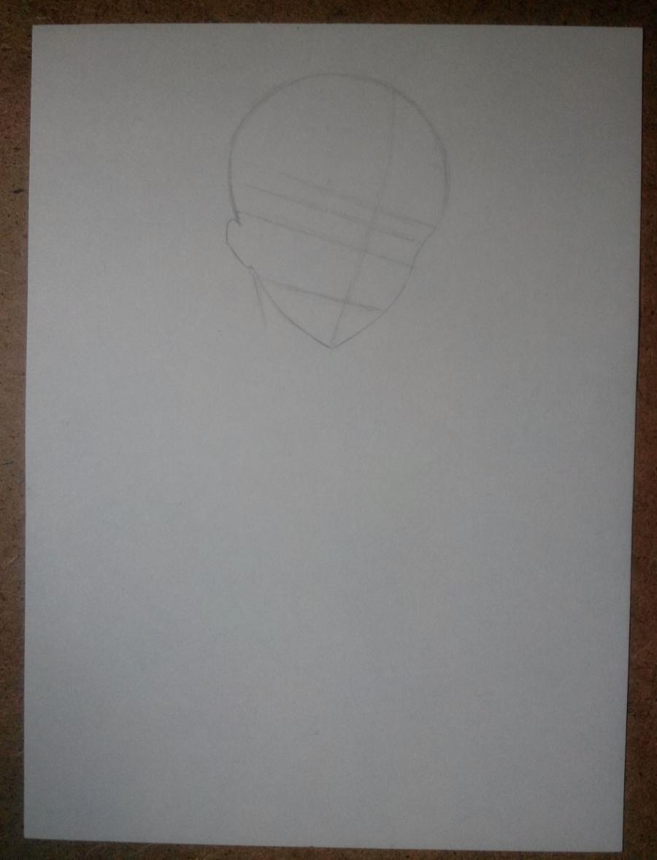 Рисуем и раскрасить Алоиса Транси из аниме Темный дворецкий карандашами - шаг 1