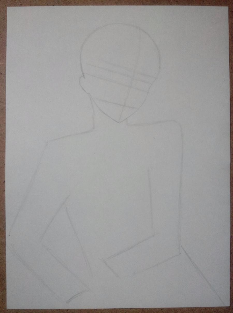 Рисуем и раскрасить Алоиса Транси из аниме Темный дворецкий карандашами - шаг 2