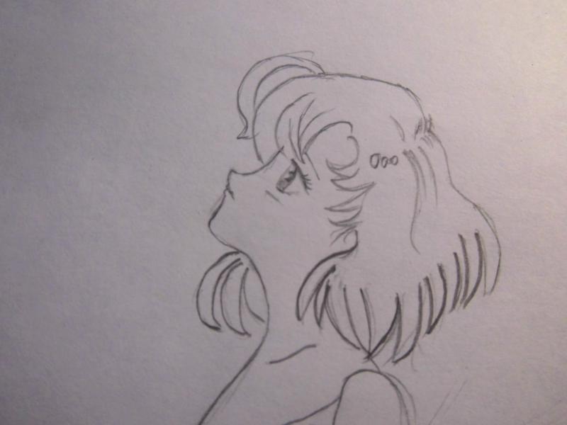 Рисуем Ами Мицуно в образе феи - шаг 4