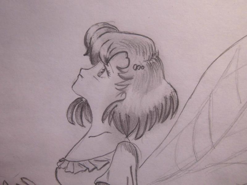 Рисуем Ами Мицуно в образе феи - шаг 7