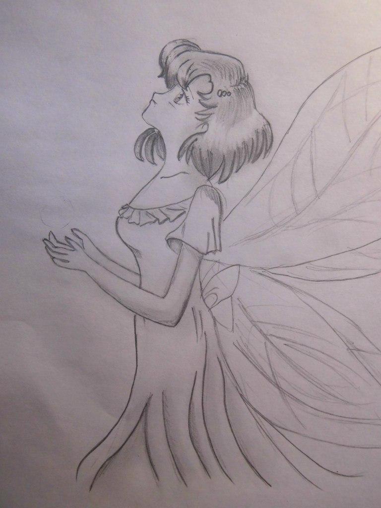 Рисуем Ами Мицуно в образе феи - шаг 8