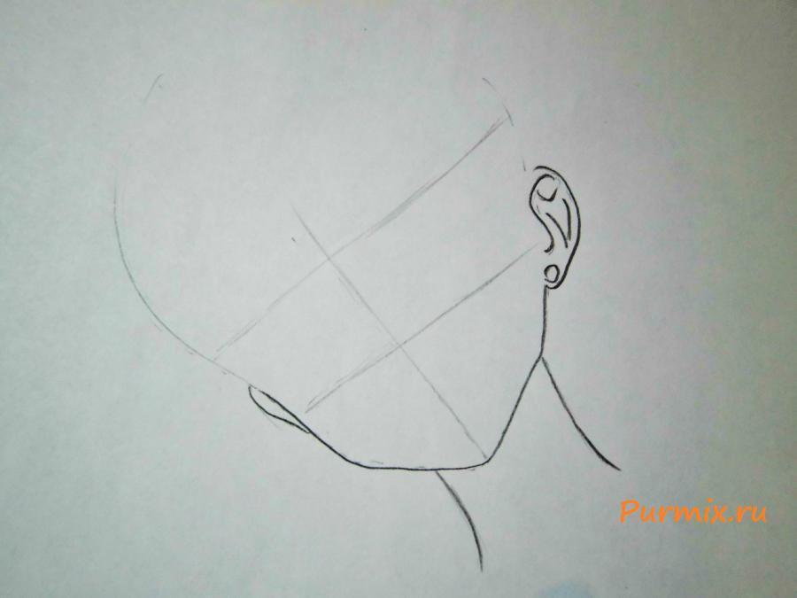 Рисуем Сейлор Меркурий карандашами - шаг 1