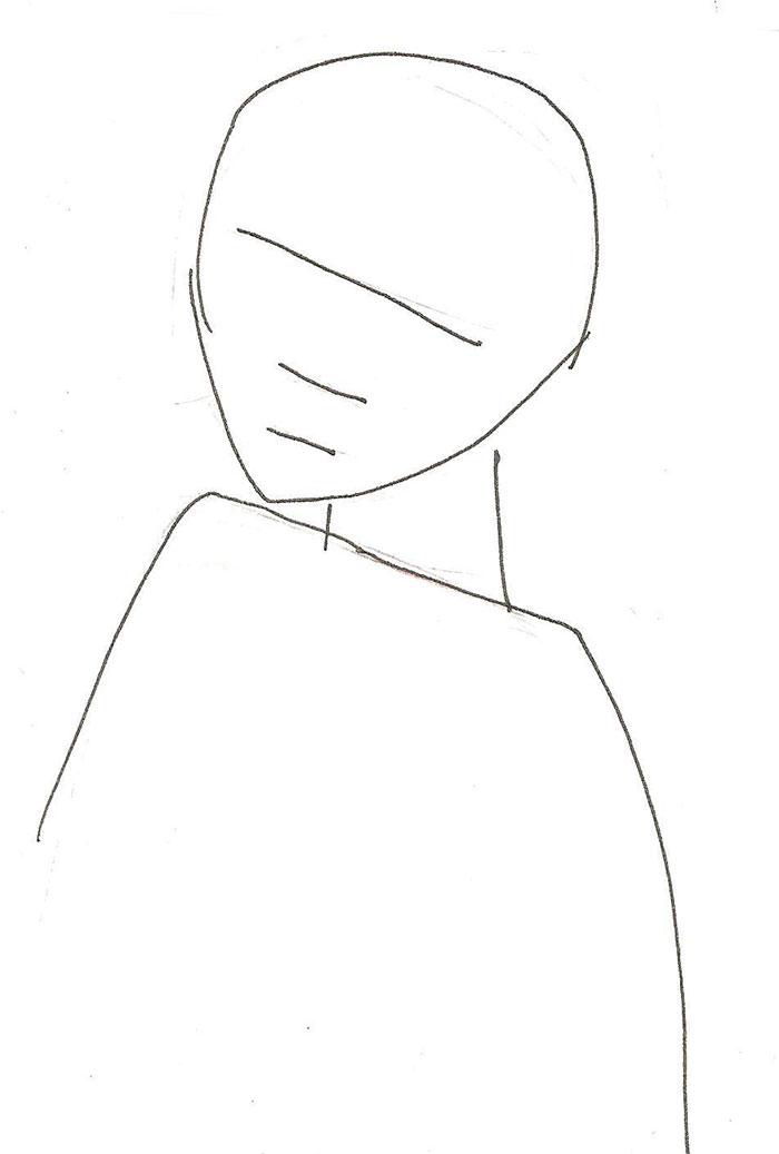 Рисуем аниме девочку ангела - шаг 1