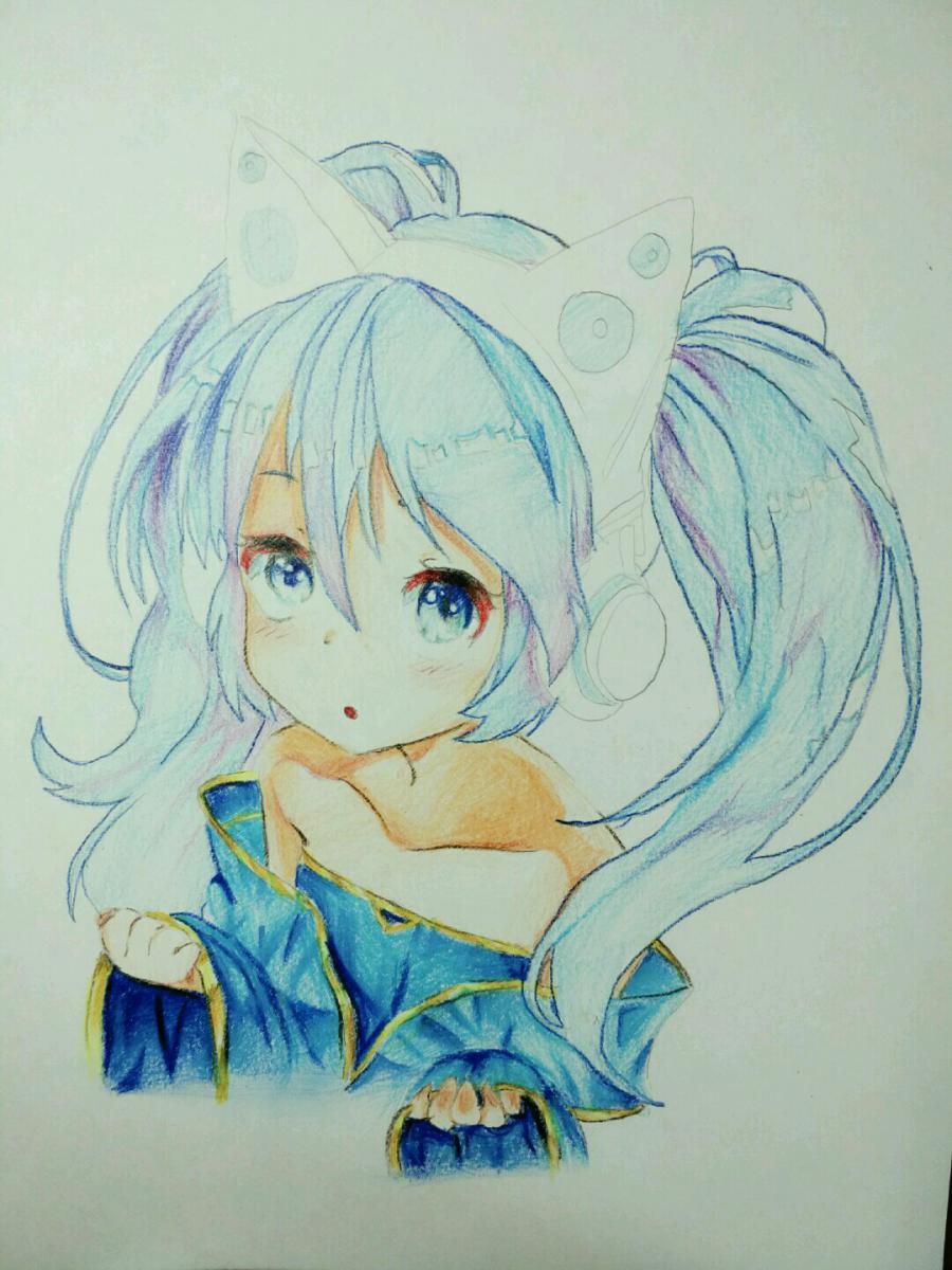 Рисуем аниме девочку в наушниках с кошачьими ушками - шаг 15
