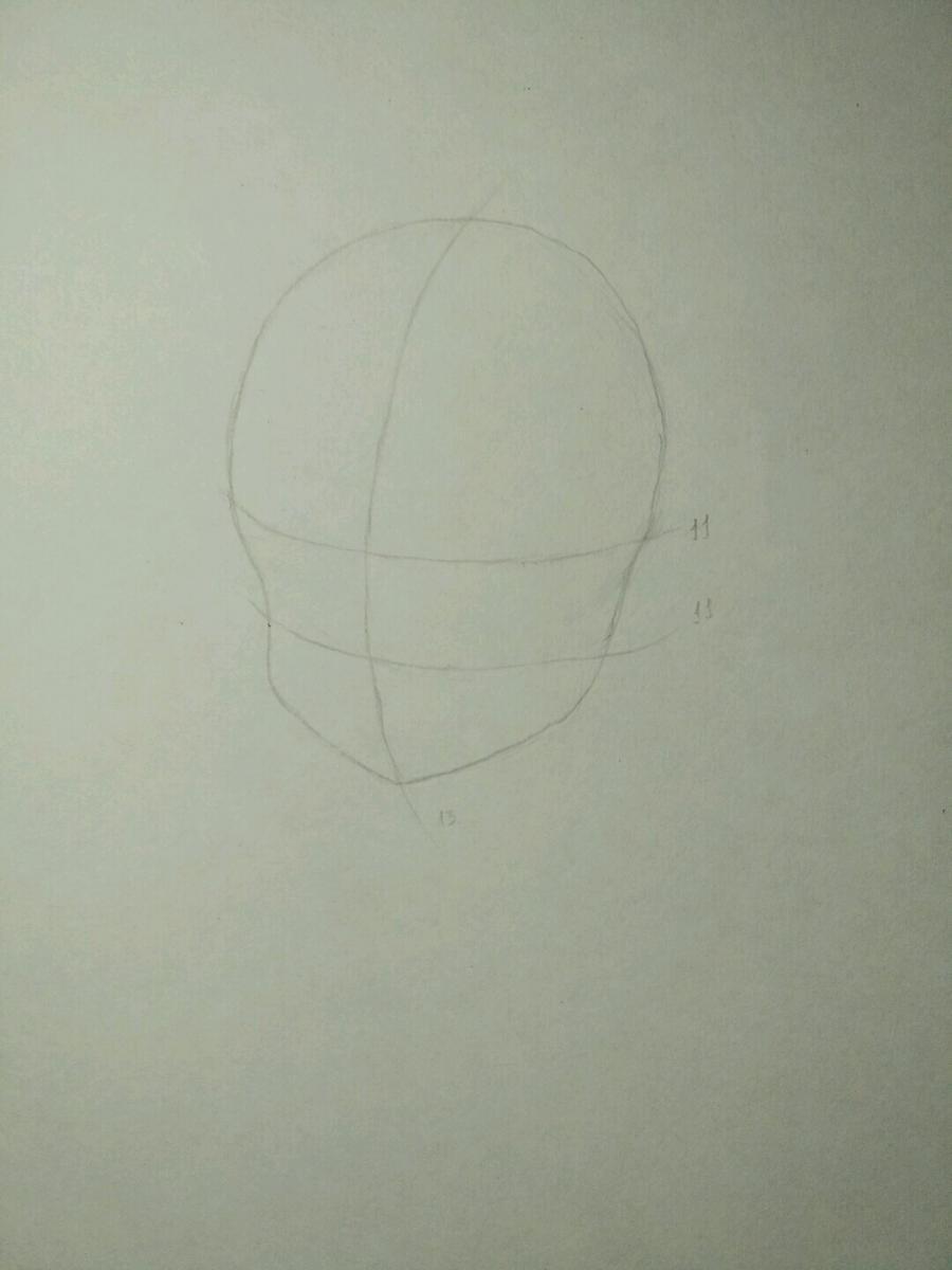 Рисуем аниме девочку в наушниках с кошачьими ушками - шаг 2