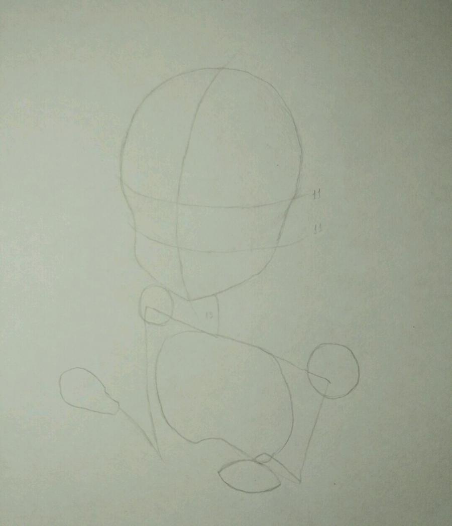 Рисуем аниме девочку в наушниках с кошачьими ушками - шаг 3