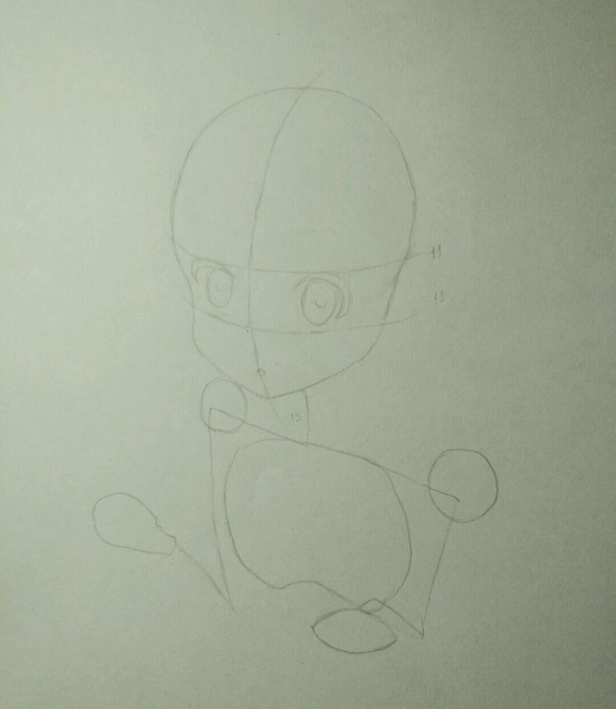 Рисуем аниме девочку в наушниках с кошачьими ушками - шаг 4