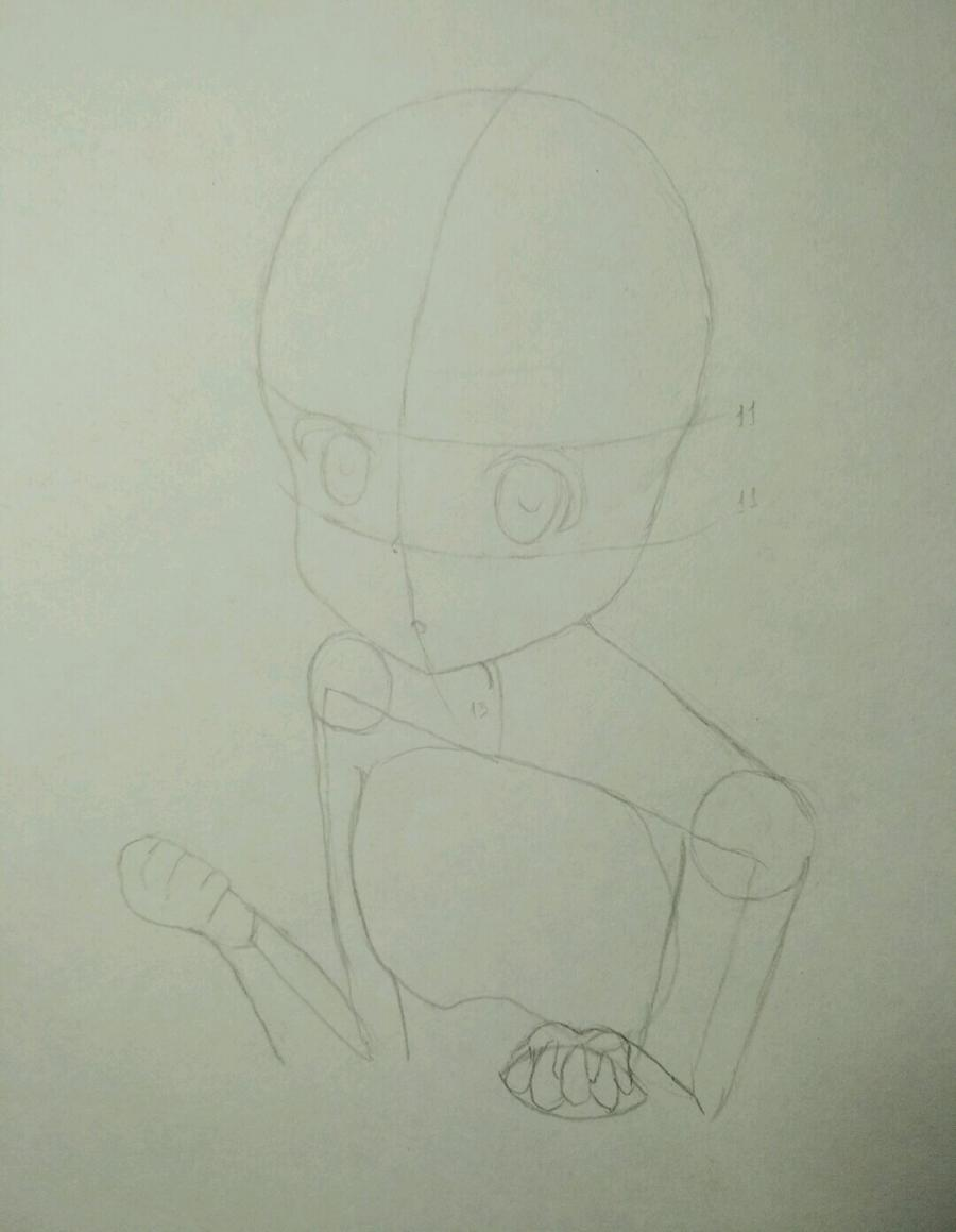 Рисуем аниме девочку в наушниках с кошачьими ушками - шаг 5