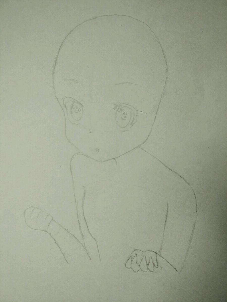 Рисуем аниме девочку в наушниках с кошачьими ушками - шаг 6