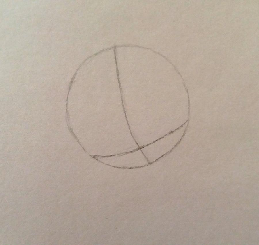 Рисуем аниме девушку-школьницу простым - шаг 1