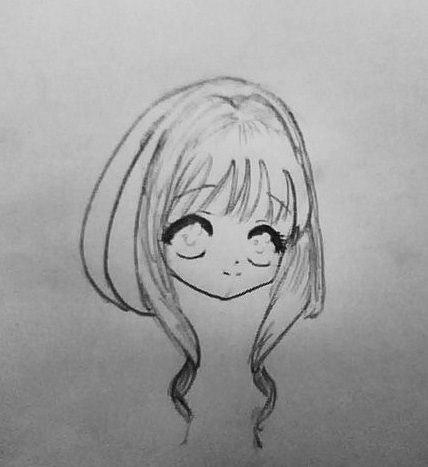 Рисуем аниме девушку ангела в новогодней одежде - шаг 3