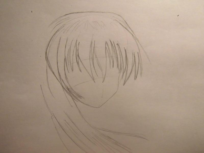 Рисуем аниме девушку с бантом