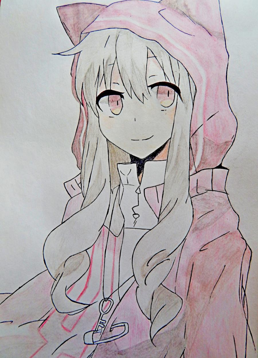Рисуем аниме девушку в капюшоне с ушками - шаг 9
